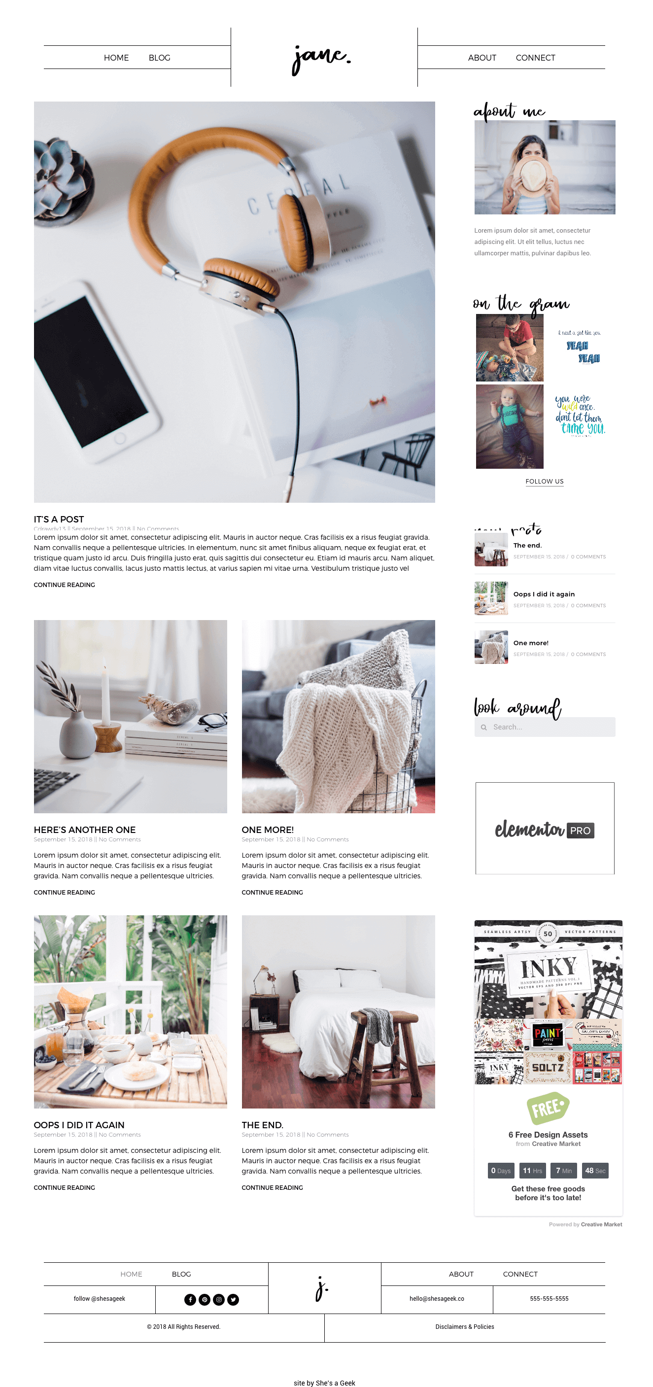 Jane – Light – Template by Shes a Geek